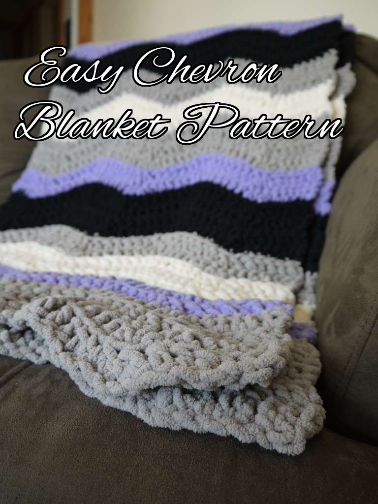 Chevron Blanket crochet pattern with Bernat Blanket Yarn
