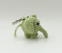 Amigurumi Elephant Keychain