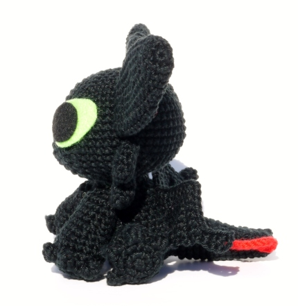 Toothless the night fury by LunasCrafts on DeviantArt | 441x430